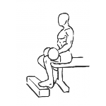 Dumbbell Seated One-Leg Calf Raise - Step 1
