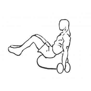 Bicep Curls V Sit on Dome - Step 1
