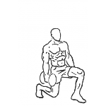 Forward Lunge with Bicep Curl - Step 2