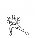 Lateral Lunge with Bicep Curl - Step 2