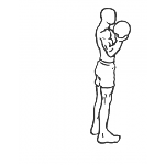 Bicep Curl Lunge with Bowling Motion - Step 2