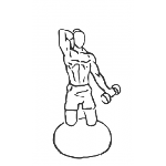 Bicep Curls with Overhead Extension Kneeling on SB - Step 1