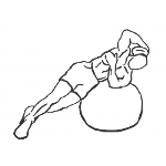 Weighted Ball Side Bend - Step 1