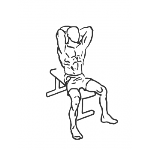 Seated Triceps Press - Step 1