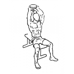 Seated Triceps Press - Step 2