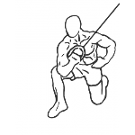 Kneeling Cable Concentration Triceps Extension - Step 1