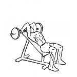 Barbell Incline Triceps Extension - Step 1