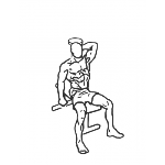 Dumbbell One Arm Triceps Extension - Step 1