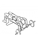 Decline EZ Bar Tricep Extension - Step 1