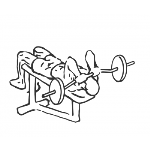 Decline Close Grip Bench To Skull Crusher - Step 1
