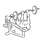 Decline Close Grip Bench To Skull Crusher - Step 2