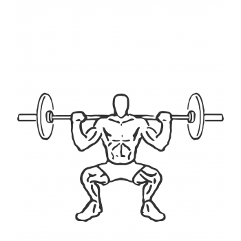 Wide Stance Barbell Squat - Step 1