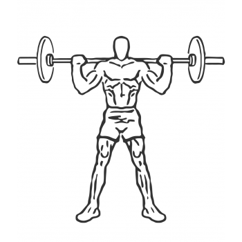 Wide Stance Barbell Squat - Step 2
