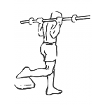 Barbell Single Leg Squat - Step 1