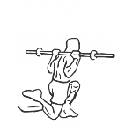 Barbell Single Leg Squat - Step 2