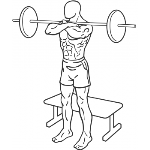 Front Barbell Squat To A Bench - Step 1