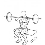 Front Barbell Squat To A Bench - Step 2