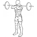 Front Barbell Squat - Step 1