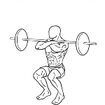Front Barbell Squat - Step 2