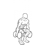 Dumbbell Squat - Step 2