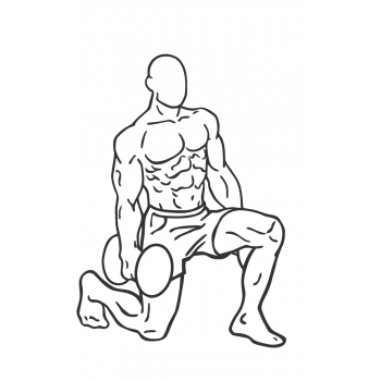 Dumbbell Rear Lunge - Step 2