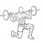 Barbell Rear Lunges - Step 1