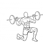Barbell Lunge - Step 1