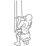Close-Grip Front Lat Pulldown - Step 1