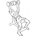 Incline Dumbbell Press - Step 1