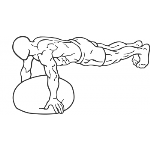 BOSU Ball Push Ups - Step 1