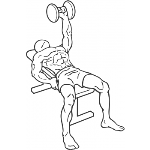 One Arm Dumbbell Bench Press - Step 1