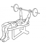 Wide Grip Decline Barbell Pullover - Step 1