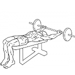 Wide Grip Decline Barbell Pullover - Step 2