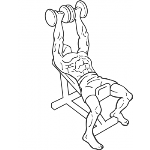 Incline Dumbbell Flyes - With A Twist - Step 1