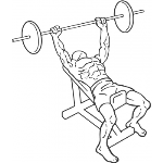 Barbell Incline Bench Press - Medium Grip - Step 1