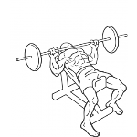 Barbell Incline Bench Press - Medium Grip - Step 2