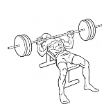 Barbell Bench Press - Medium Grip - Step 2