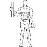 One Arm Upright Row - Step 2