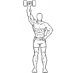 Dumbbell One Arm Shoulder Press - Step 1