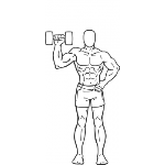 Dumbbell One Arm Shoulder Press - Step 2