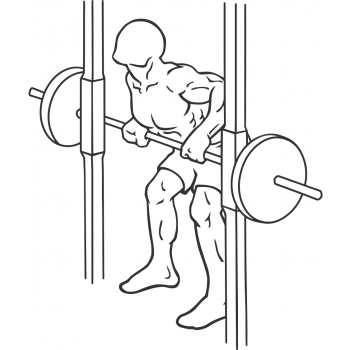 Smith Machine Rear Deltoid Row - Step 2