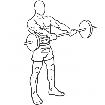 Standing Front Barbell Raise Over Head - Step 1
