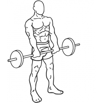 Standing Front Barbell Raise Over Head - Step 2