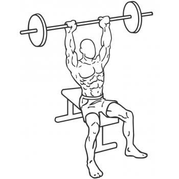 Seated Barbell Military Press - Step 1