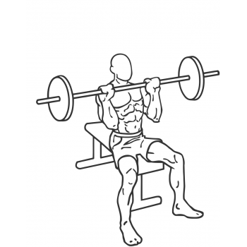 Seated Barbell Military Press - Step 2